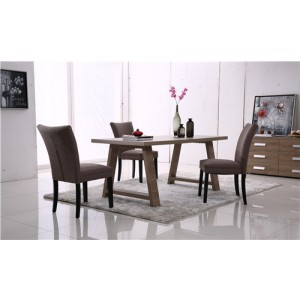 Tony 7 Piece Dining Set - 1800mm Wooden Table with 6 Chairs