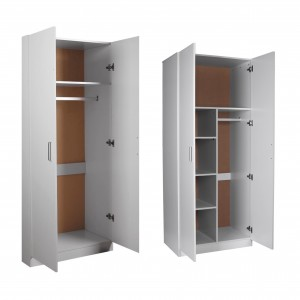 Refern 4 Door Wardrobe Package 3 Special - 2 door combo + 2 door wardrobe, BLACK/WHITE