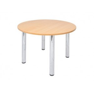 Rapid Chrome 4 Leg Round Table CRT9-900 Round with Chrome Round Legs