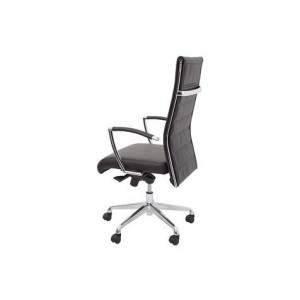 Rapid Executive Chair-CL2000H-High Leather Back-Chrome Armrests & Base