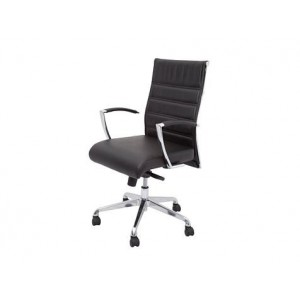 Rapid Executive Chair CL2000M-Medium Leather Back-Chrome Armrests & Base