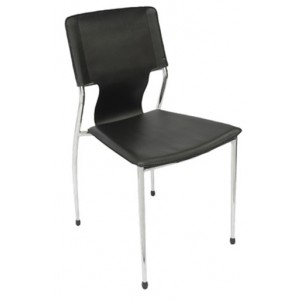 Rapid Visitor's Chair FERNANDO B - Chrome Frame/Stackable