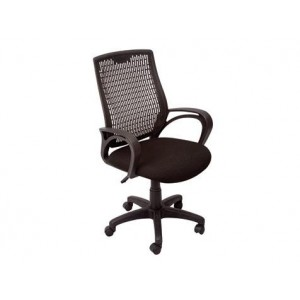 Rapid Excutive Chair RE100,Medium Plastic Back With Armssingle Point Lock