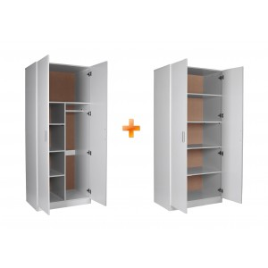 Redfern Storage Package-2 Door Combo + 2 Door Pantry, Black/White