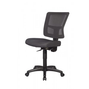 Rapid RIVER Mesh Chair, Black / Silver, Mesh Back, Synchro Mechanism, Ratchet Back, Optional Adjustable Arms