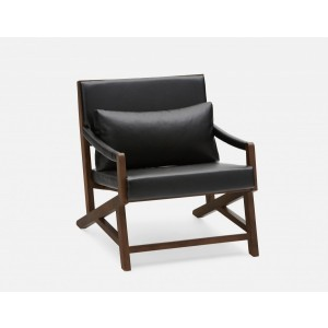 Simon Arm Chair with Black PU Seat