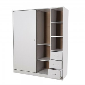 Redfern 2 Sliding Doors Wardrobe/Storage- Black/White -1600mm