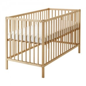 Baby cot and mattress combo