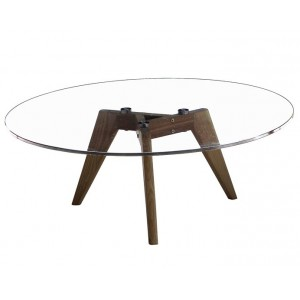 Sophia Round Coffee/Dining Table 800mm Diameter Tempered Glass