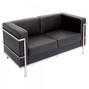 Rapid Space Lounge 2 Seater - Soft black PU finish