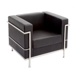 Rapid Space Lounge Single Seat - Soft black PU finish
