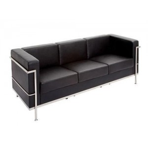 Rapid Space Lounge 3 Seater - Soft black PU finish