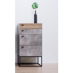 Contemporary Tallboy with Metal Legs
