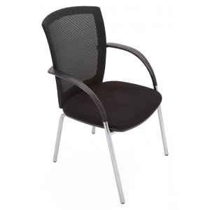 Rapid Mesh 4 Leg Chair WMVBK - Fabric Seat / Mesh Back