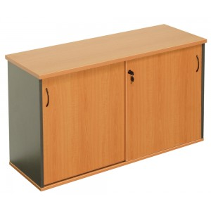 Rapid Worker Credenza CMZ Series - Beech / Cherry / Grey, Lockable