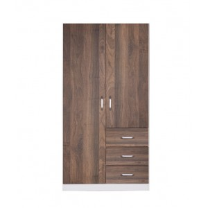 Zetland 2 Door Wardrobe with 3 Drawers, Buy Now, Pay Later