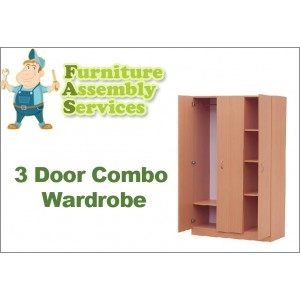 3 Doors Combo Wardrobe Assembly Service