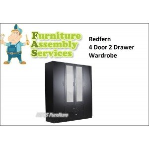 4 Doors 2 Drawers Wardrobe Assembly Service