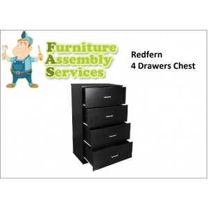 Redfern 4 Drawers Chest/Storage/Tallboy, Deep Drawers Assembly Service