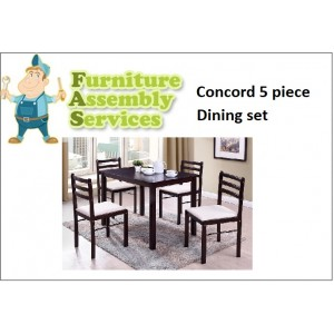 Concord 5-piece Dining Set Assembly Service