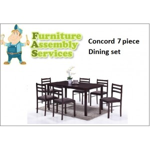 Concord 7-piece Dining Set Assembly Service