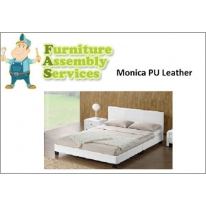 Monica PU Leather Double/Queen Bed Assembly Service